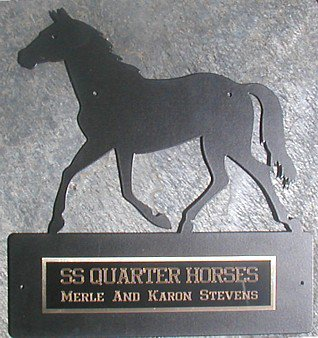 METAL HORSE STALL SIGN