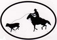 Calf Roping Decal