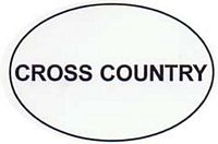 Cross Country Text Decal