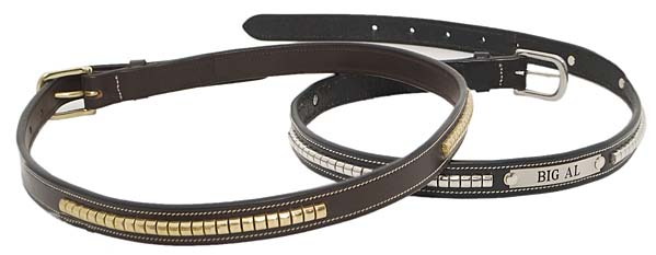 "3/4"" LEATHER CLINCHER BELT - 30"