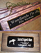 CRAFTED WOOD STALL SIGN - CRAFTED