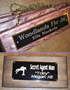 CRAFTED WOOD STALL SIGN