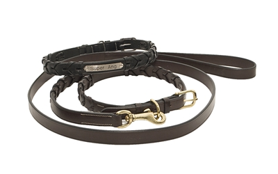LACED DOG COLLAR