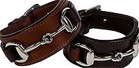 LEATHER SNAFFLE BIT BRACELET Leather, bracelet, wristband, horse, snaffle. bit