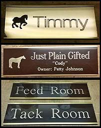 METAL SLIDE-IN STALL SIGNS