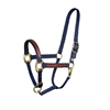 NYLON WITH LEATHER OVERLAY SAFETY HALTER