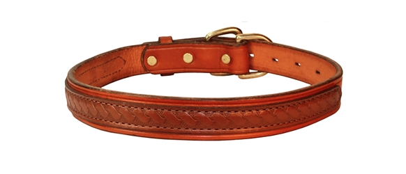 OVERLAY LEATHER DOG COLLAR