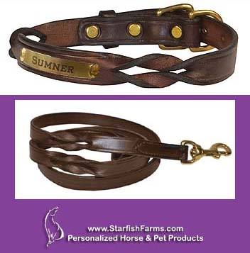 TWISTED LEATHER DOG COLLAR
